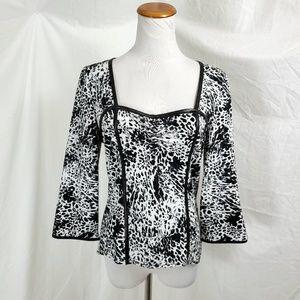 Joseph Ribkoff Blouse Knit Top Cheetah Print Sweet